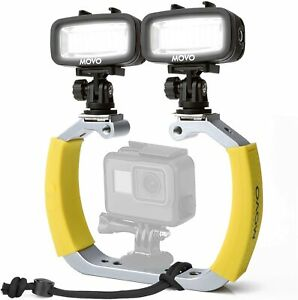 Movo Underwater Scuba Diving Rig Bundle with 2 Waterproof LED Lights for GoPro