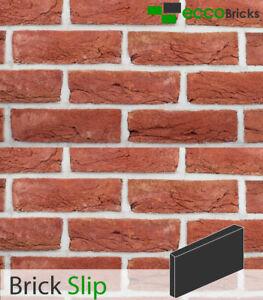 Genuine Handmade Brick Slip - Purpose Made Brick Slip - Antique Cottage Soft Red