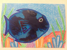 ACEO fish mixed media ATC artist trading card listed by artist