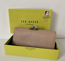 NWT Gift Boxed Ted Baker JOSIEY Pave Bobble Leather Matinee Wallet Clutch Taupe