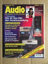 AUDIO 9/1995 - BOXENKNALLER AUS DEUTSCHLAND / MINI DISK SO GUT WIE NIE (DA126)