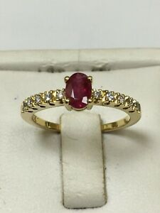 Magnificent 18 Carat Yellow Gold RUBY & DIAMOND Ring