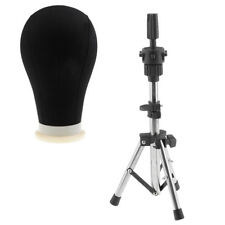 Pro Canvas Block Head Hair For Wig Make Dry Style Mannequin 24tripod Stand