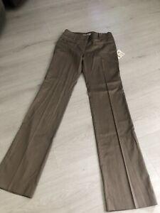 BNWT Zara Basic Beige Neutral Flared Leg Trousers Sz 8