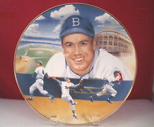 Duke Snider  Limited Edition Plate by Sports Impressions Autographed