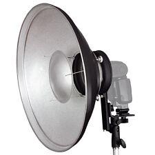 Beauty Dish 42 cm für Kompaktblitz Systemblitz + Systemblitzhalter Blitz-Halter