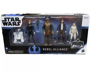 "Star Wars Celebrate The Saga Toys Rebel Alliance Figure Set 3.75"" 5 Pack Disney"