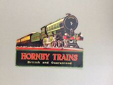 VINTAGE HORNBY RAILWAYS RETAIL SHOP DISPLAY CARDS ENGLAND O &OO REPRODUCTION