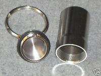 2 Stück Schlüsselanhänger groß - Pillenbox - silber Anhänger Pillen Box