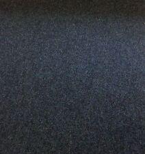Dark Blue Herringbone Pure Wool Fabric for Upholstery/Curtains.UK WOVEN