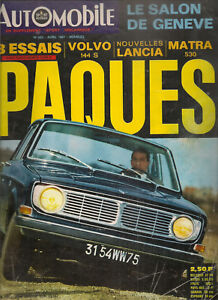 L'AUTOMOBILE 252 1967 SALON DE GENEVE VOLVO 144S NASCAR DINO 166 F2 ALFA TIPO 33