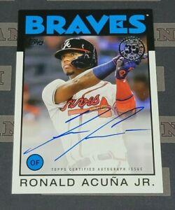 2021 Topps Ronald Acuna Jr. 1986 35th Auto Autograph Auto Braves