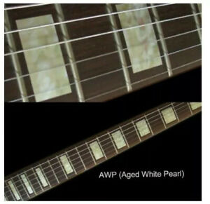 Block Aged White Pearl Guitar Fret board Markers Inlay stickers