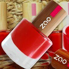 Zao Nail-Polish 650 Nagellack Carmine Red 8 ml Bambusdeckel 7-free vegan fair