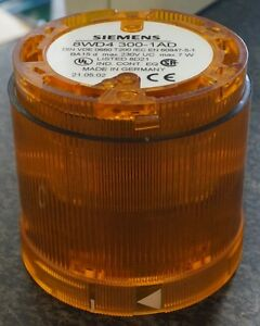Siemens 8WD4 300-1AD Amber/Yellow Lens Stackable Indicator Light 230VUC