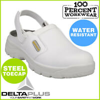 Pro Nurses Food Hygiene Kitchen Catering Work Safety Clogs Shoes Steel Toe Cap