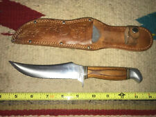 Vintage RARE Schrade Walden NY USA 148 Wonda Edge Wonda Wood Fixed Blade Knife