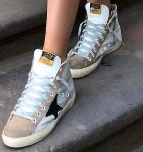 Golden Goose Deluxe Brand Francy Womens Sneaker Fur Suede Shoes sz. us 7 eu 37