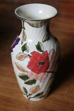 Vase faïence de Gien décor Les grandes fleurs, Pivoine