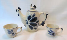 Gzhel Russia Unique Chicken Blue Hand Painted Teapot 2 Cups REDUCED!