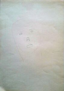 Michael Gross: Woman Portrait / Israeli Jewish Minimalism Contemporary S/Pencil