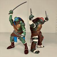 Teenage Mutant Ninja Turtles Playmates Combat Warrior TMNT Leonardo & Raphael