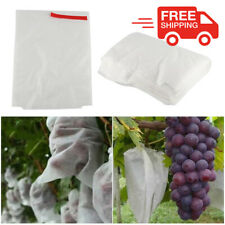 100 Pcs Fruit Protection Bags Waterproof Pest Control Against Insects Grape Mesh