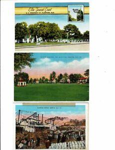 3 Card Alabama Lot, Clanton Motel, Fort McClellan, Mobile Cotton!
