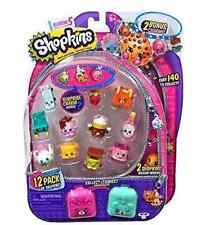 SHOPKINS SEASON 5 12 PACK w/ 2 Bonus Charms & 2 Petkin Backpacks ~ Free Shipping