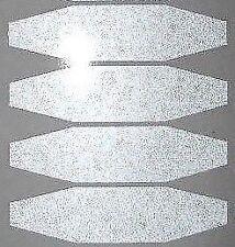 casque bande moto reflechissante autocollant polygone  BLANCHE PRODUIT ALLEMAND