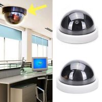 Cabinet Indoor Plastic Dome Dummy Fakes Security CCTV Camera blinking LED WHITE