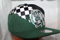 Boston Celtics Mitchell & Ness NBA Checked Paintbrush S Snapback,Hat,Cap     NEW