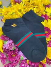 GUCCI Bee No-Show / Low Cut Socks - Black - One Size - Free Same Day Shipping!