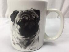 Pug Coffee Mug White Best of Show Tzenov Art Collector's edition USA