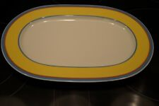"VILLEROY & BOCH GERMANY ""TWIST-ANNA"" FINE VILBO CHINA 13.5"" OVAL PLATTER"