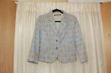Daughters of the Liberation Cotton Blue Plaid Jacket Size 6