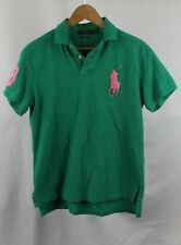 Vintage Polo Ralph Lauren Big Pony Polo Green Shirt Sz M