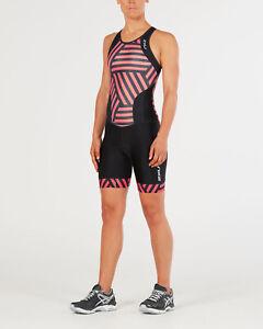 New 2XU Women Perform Y Back Trisuit Race Train Tri Triathlon Suit Small