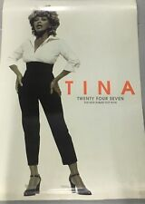 TINA TURNER ORIGINAL PROMOTIONAL RECORD SHOP DOUBLE SIDED POSTER  TWENTY FOUR