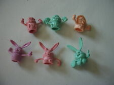 Vintage Russ Easter Rubber Finger Puppets Lot Of 6 Cute Bunnies And Chicks