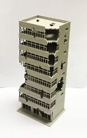 N Scale Outland Building Models Ruined Building Abandoned Tall Office Model