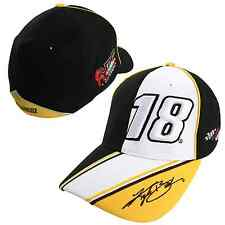 Kyle Busch Chase Authentics #18 M&M's BackStretch Fitted Hat FREE