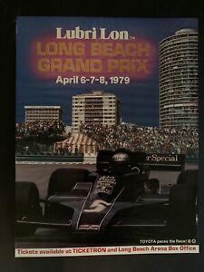 Original Vintage 1979 Long Beach Grand Prix Formula One Poster - Mario Andretti