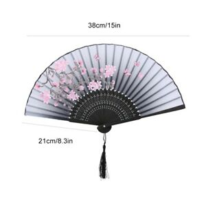 Folding Hand Fan Wedding Party Gift Dance Props Home Office Decoration Practical