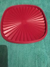 Tupperware Red Square Lid 859-1