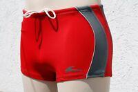 215002-5 C&A Badehose Schwimmhose Badeshorts Bermuda Elastisch Rot in M