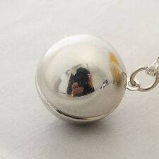 Charm Secret Message Ball Locket Pendant Necklace Best Friend Jewelry Chain Gift