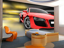 Red Sport Car Wall Mural Photo Wallpaper GIANT DECOR Paper Poster Free Paste