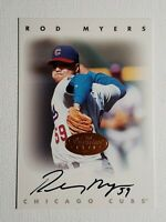 1996 Leaf Signature Series Rod Myers Auto Autograph Card Chicago Cubs Signed