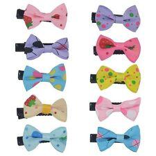 10 x Toddler Cute Girl Hair Clip Ribbon Bow Baby Kids Satin Bowknot Headban I4B0